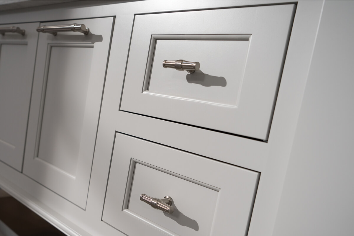Example of Flush Inset cabinetry with concealed hinges.