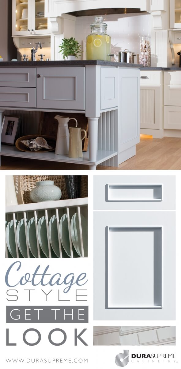 Get the look - Cottage Style Kitchen Design with Cottage styled cabinets