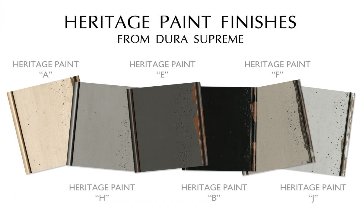 Distressed painted Cabinet Colors. Heritage Paitn finish collection of color from Dura Supreme Cabinetry.