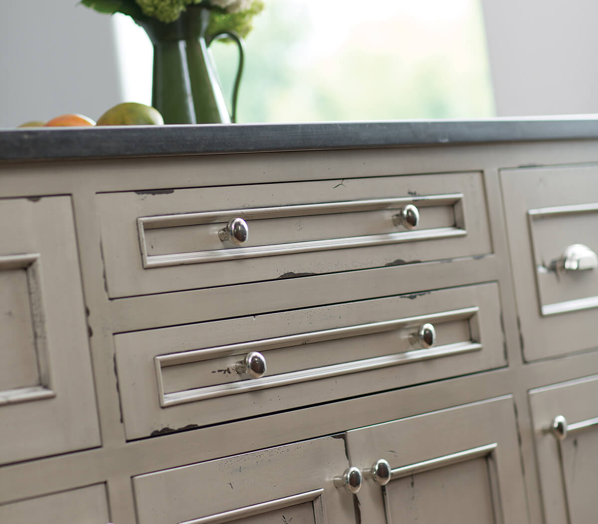 Dura Supreme Cabinetry Kitchen Island in Heritage Paint