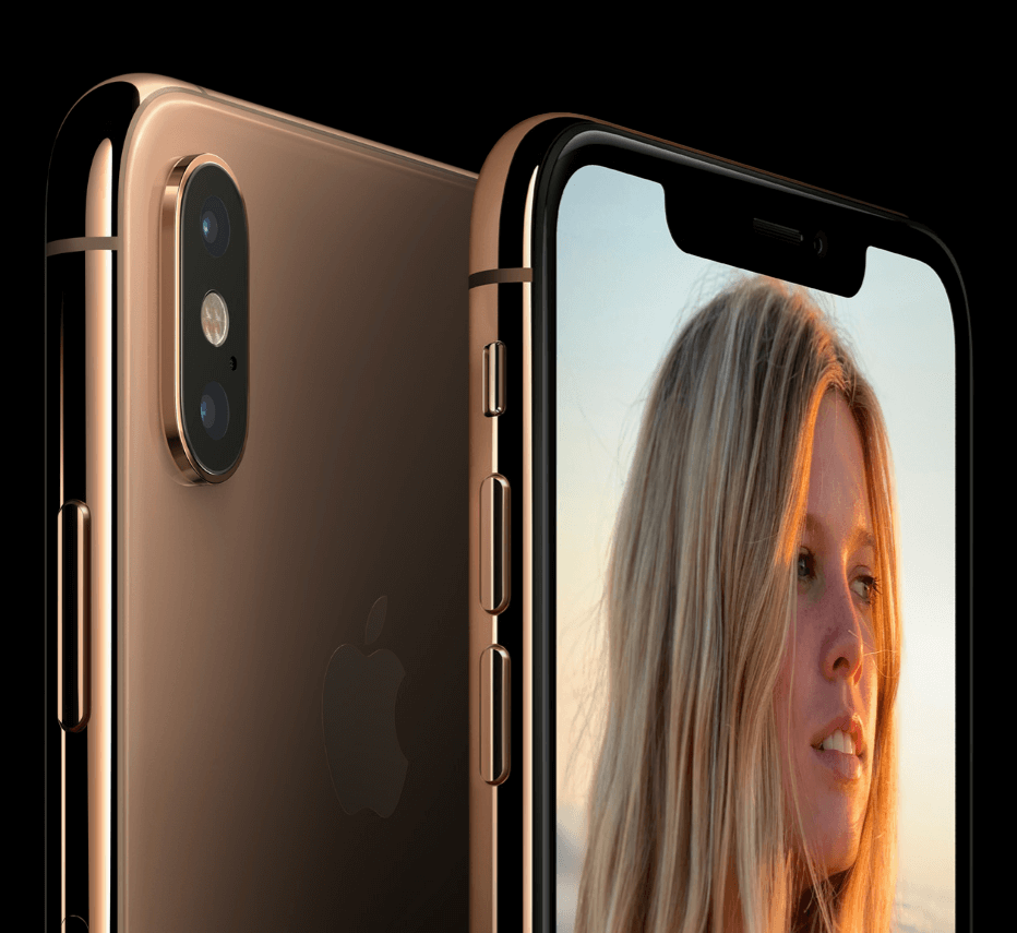 Apple's introduction of the iphone Xs with a metalic gold finish ..